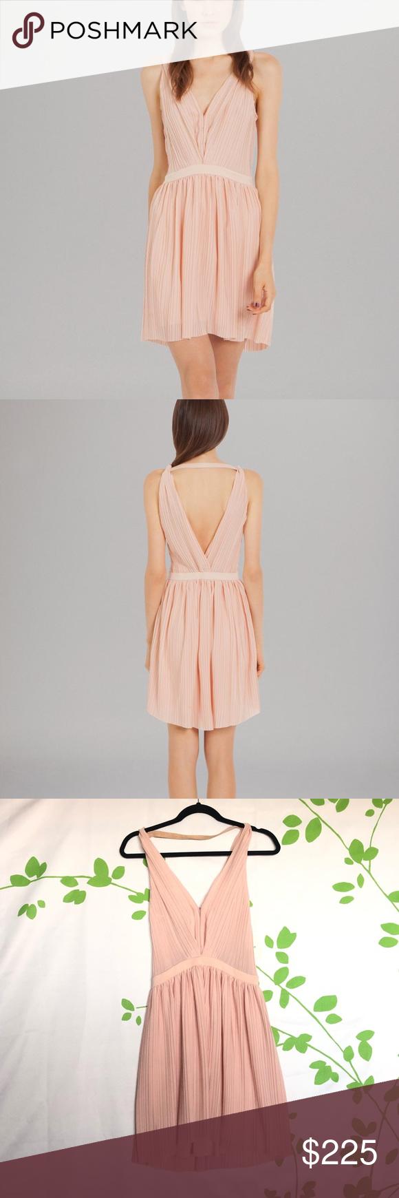 Maje Frasera Grecian dress blush Absolutely beautiful