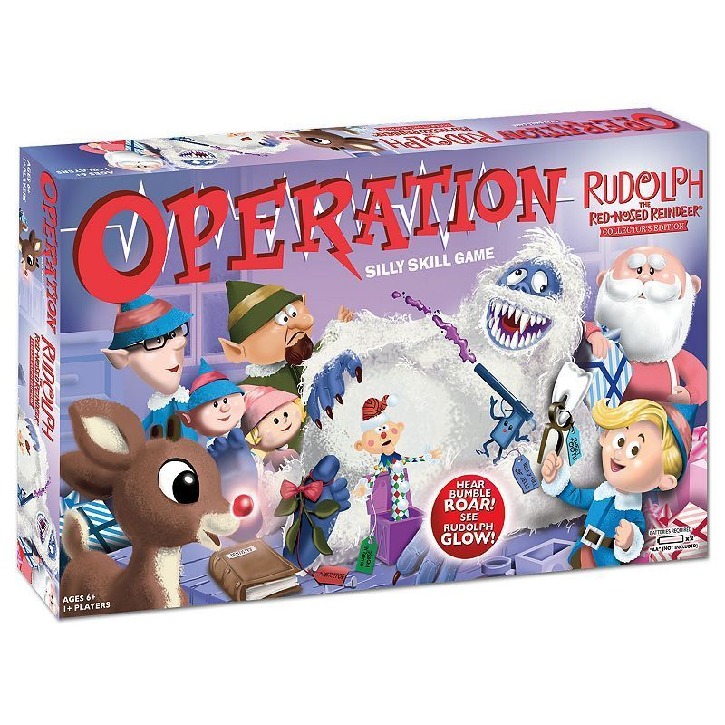 Christmas Operation Game.Rudolph The Red Nosed Reindeer Operation Game By Usaopoly