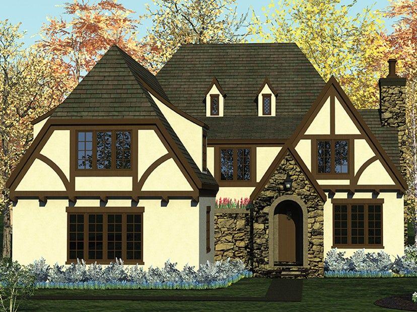 European Style House Plan 4 Beds 4 5 Baths 2951 Sq Ft Plan 453 637 Farmhouse Plans European House House Plans