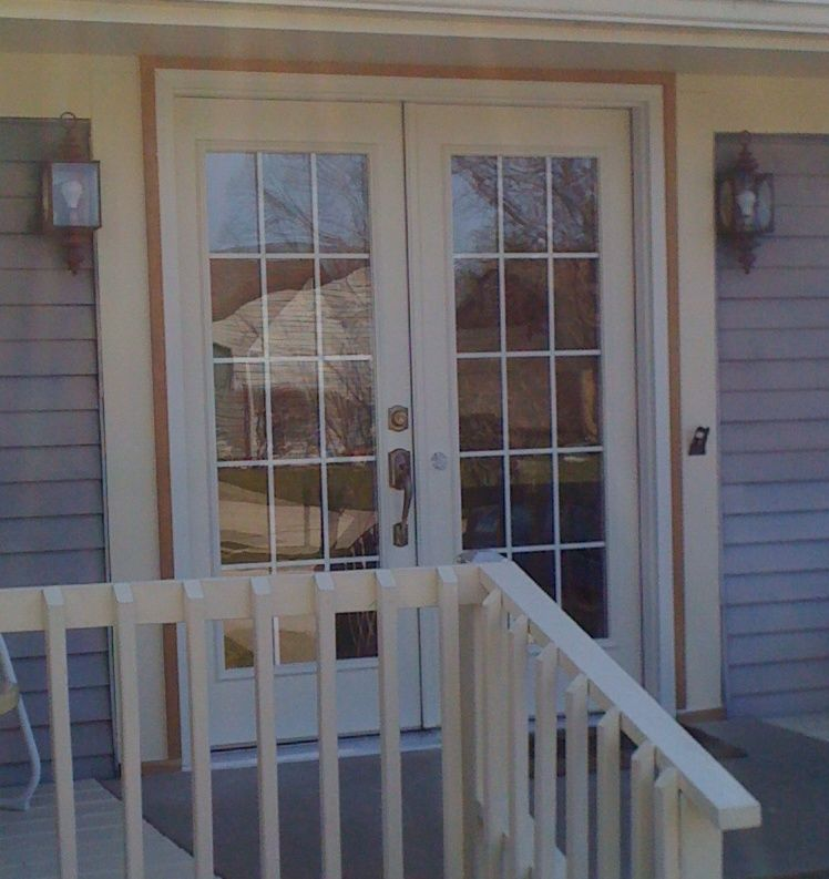 Exterior Single French Doors anderson french doors | steel full-lite in-swing french patio door
