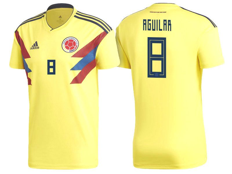 b9f526f23 2018 World Cup Colombia Soccer Home Jersey Shirt abel aguilar