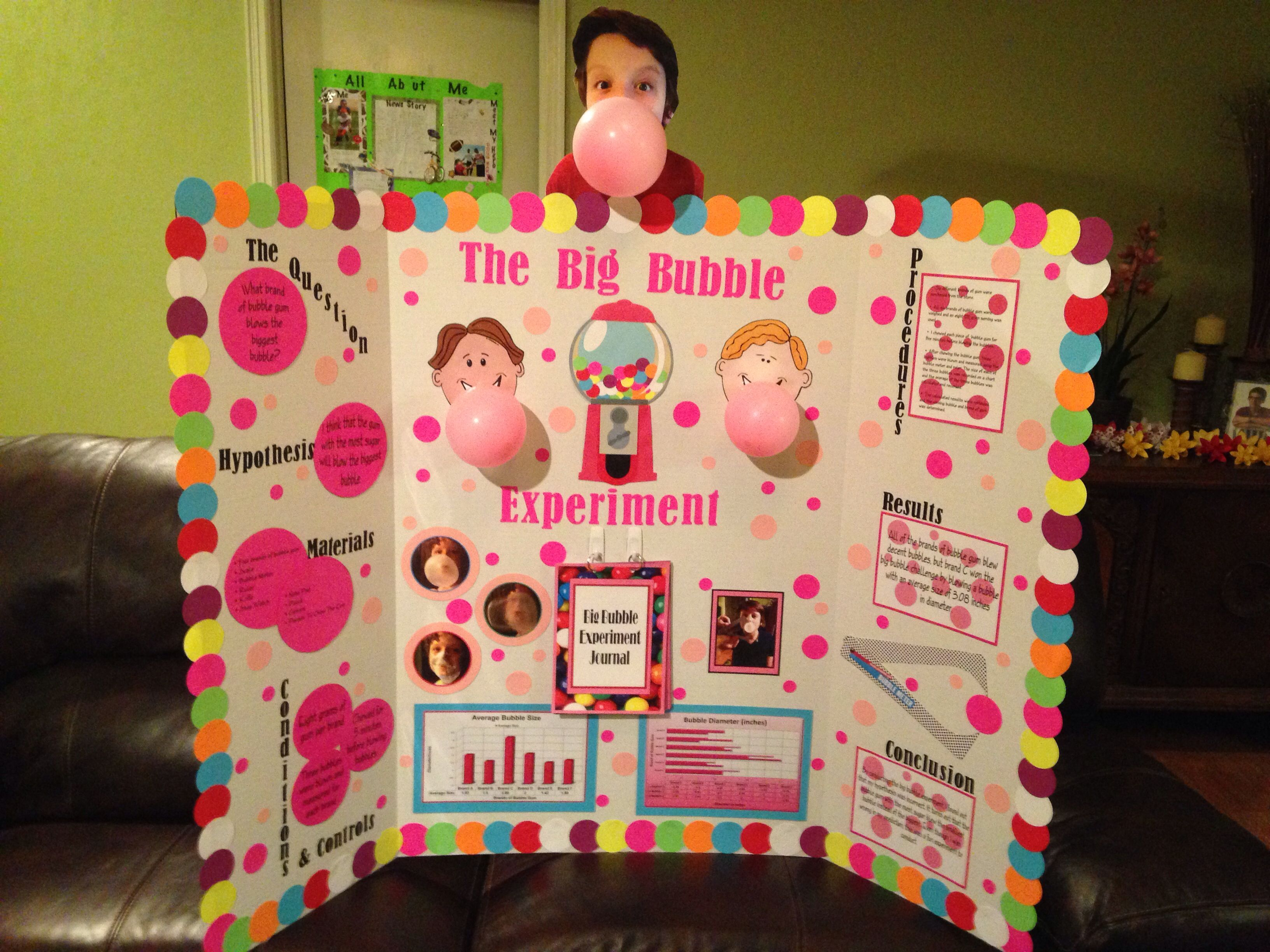 Fifth grade science fair project which brand of gum blows for Do my project
