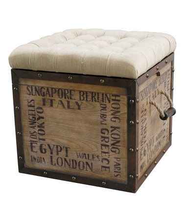 Amazing Loving This Natural Off White Travel Script Storage Machost Co Dining Chair Design Ideas Machostcouk