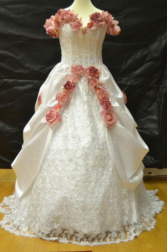 Brautkleid,Hochzeitskleid,Südstaaten,Western,Garten,Blüten,Neu !!!