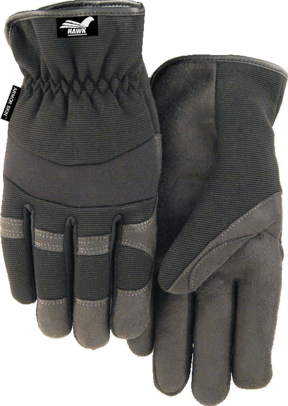 Majestic Hawk 2136bk Black Armor Skin Mechanic Style Gloves Slip