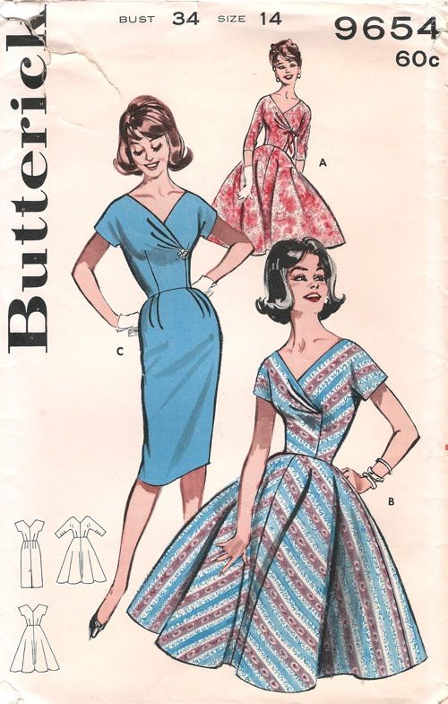 Butterick 9654 | Darts, 1960s and 1960s fashion
