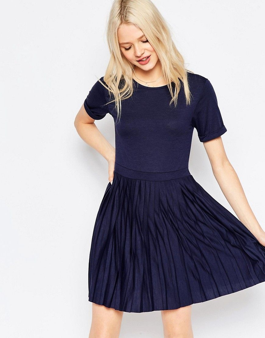 Image 1 - ASOS - Mini robe plissée | Kleider für frauen ...