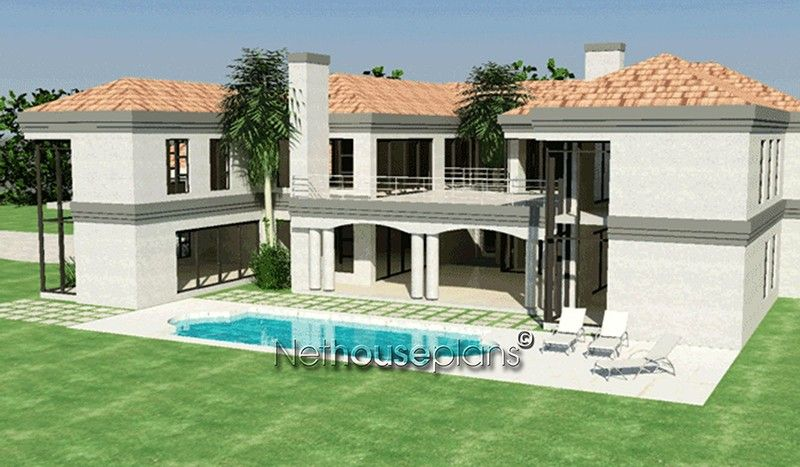5 Bedroom House Plan T913d Nethouseplans In 2020 House Plans South Africa Tuscany House Double Storey House Plans