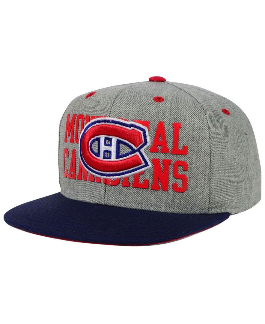 Reebok Montreal Canadiens Bully 2Tone Snapback Cap