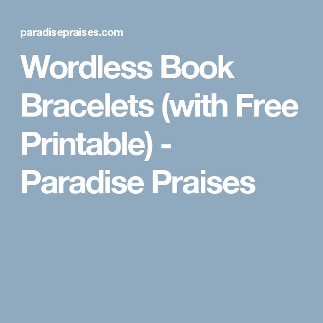 photo regarding Printable Paradise identified as Wordless E-book Gospel Bracelets [PRINTABLE Wordless E-book