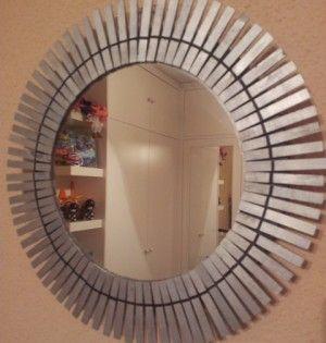 Espejo Decorado Con Pinzas De Madera Manualidades Con