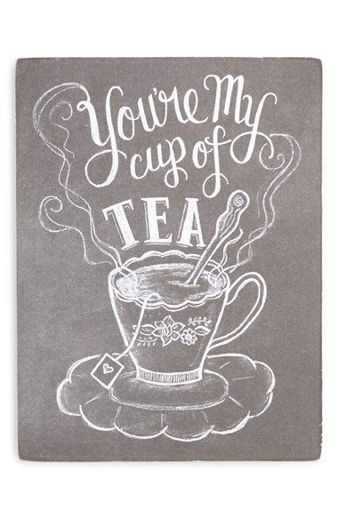 "Free shipping and returns on PRIMITIVES BY KATHY 'Cup of Tea' Box Chalk Sign at Nordstrom.com. Chalk-look script emblazons a rustic sign with a charming sketch and enduring message, ""You're my cup of tea""—lending a shabby-chic touch to any room."