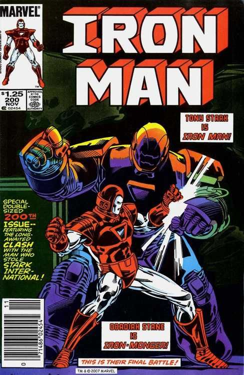 Iron Man #200, november 1985, cover by Mark Bright.
