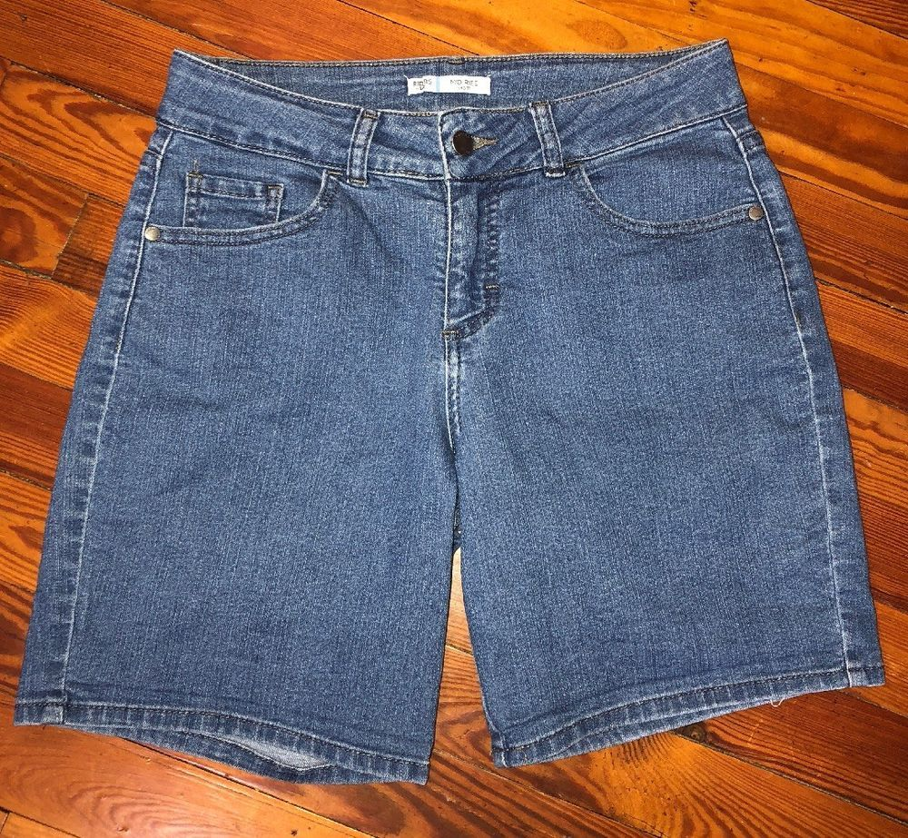 badded99 Riders By Lee Womens 6M Mid Rise Denim Shorts Stretch Jegging Comfort #Lee  #DenimShorts #Casual
