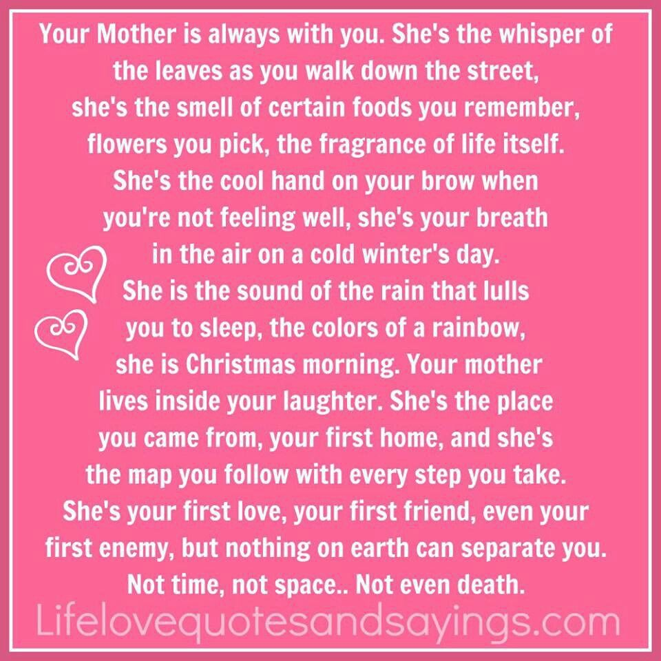 Remember Mom Quotes: Remembering Your Mother Quotes. QuotesGram