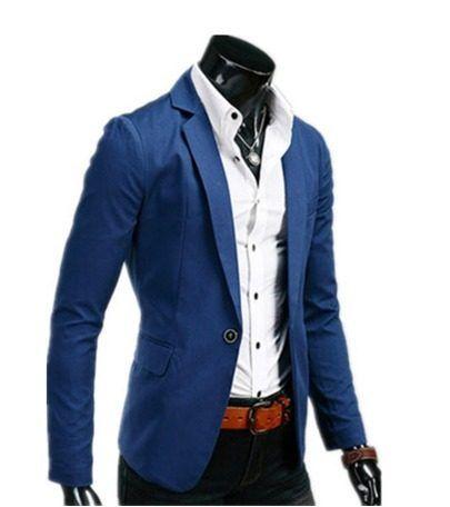 813a8832d0936 Basic Blazer Moda Japonesa Saco Slim Fit Envio Gratis 1 Dia ...