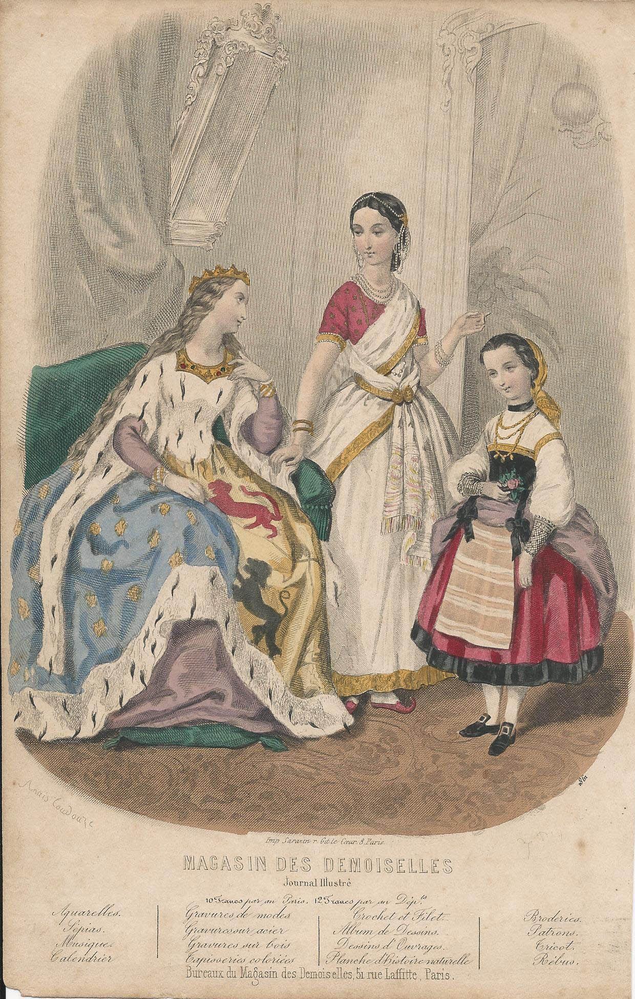 Ca 1860 Magasin Des Demoiselles Illustrated By Anais Toudouze