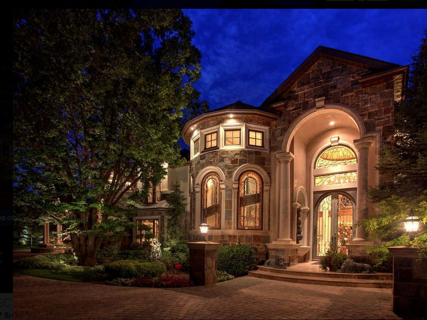 Exterior architecture luxury real estate mansions for
