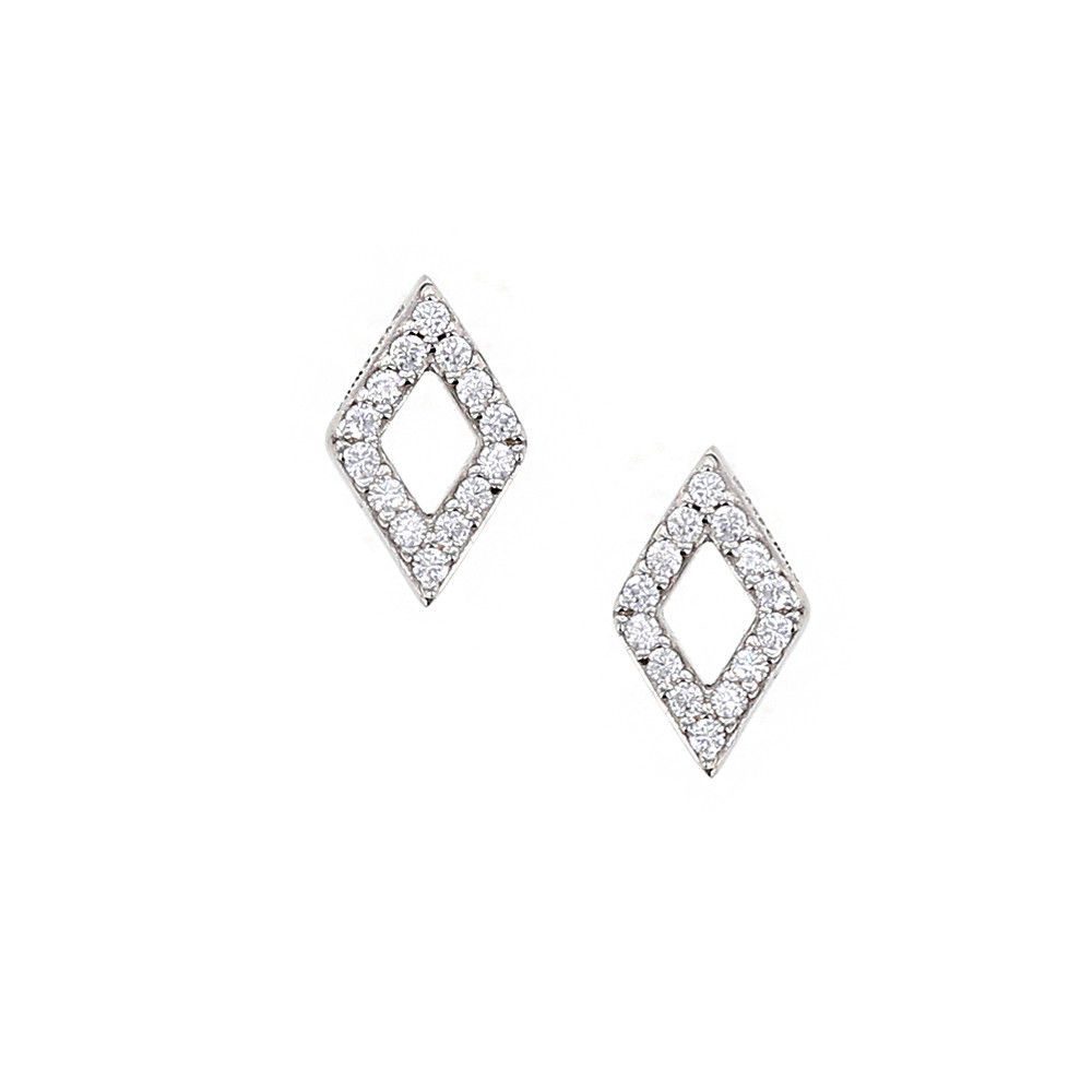 Couture Carats Diamond Shaped Stud Earrings