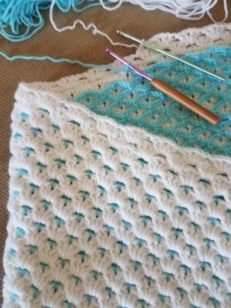 Crochet baby blanket | CROCHET | Pinterest | Babydecken, Häkeln und ...