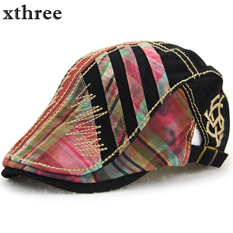 Xthree gorra boina hombres sombreros para las mujeres viseras sombrero  gorras planas boinas 4f10b63dbda