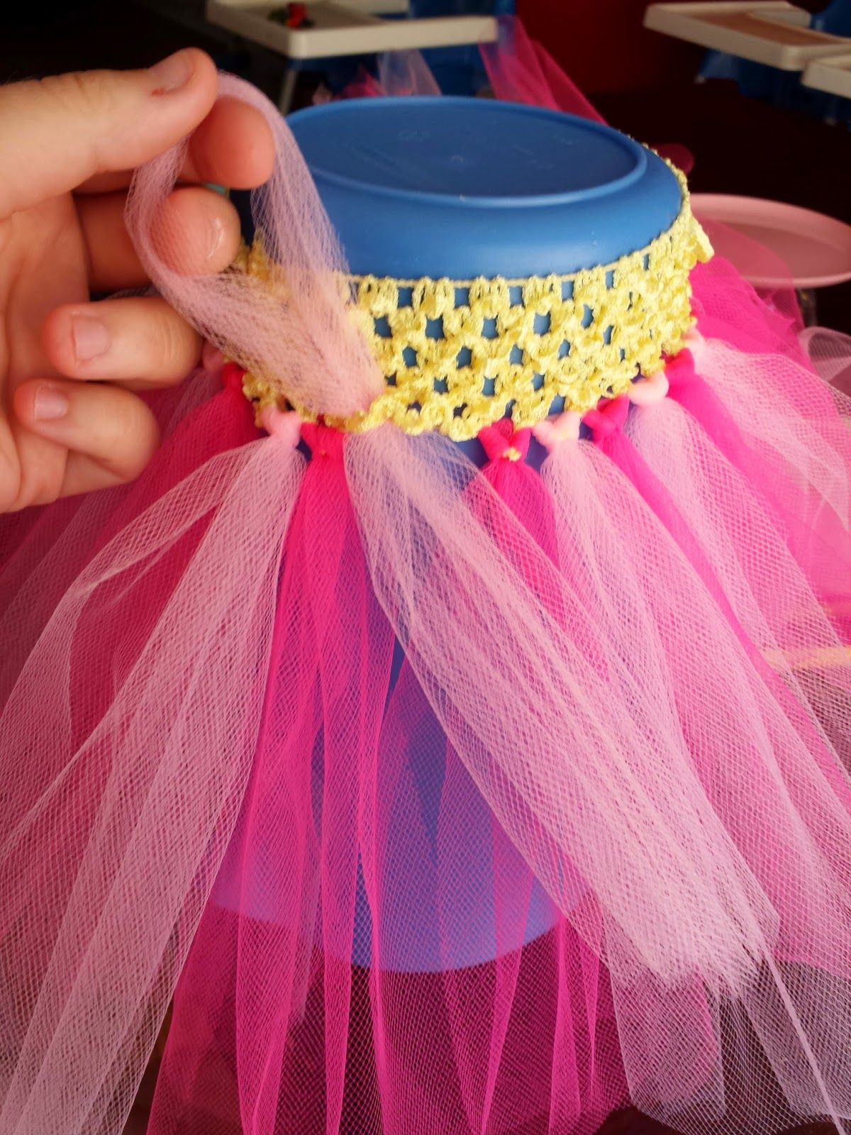 Easiest Diy Tutu Skirt And High Chair Decor Diy Tutu Diy