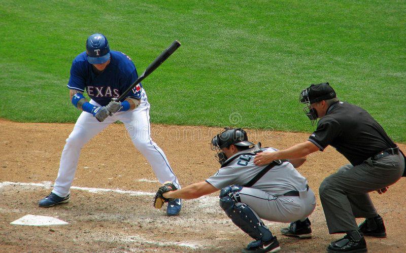 Baseball Batter Catcher And Umpire A View Of A Texas Ranger