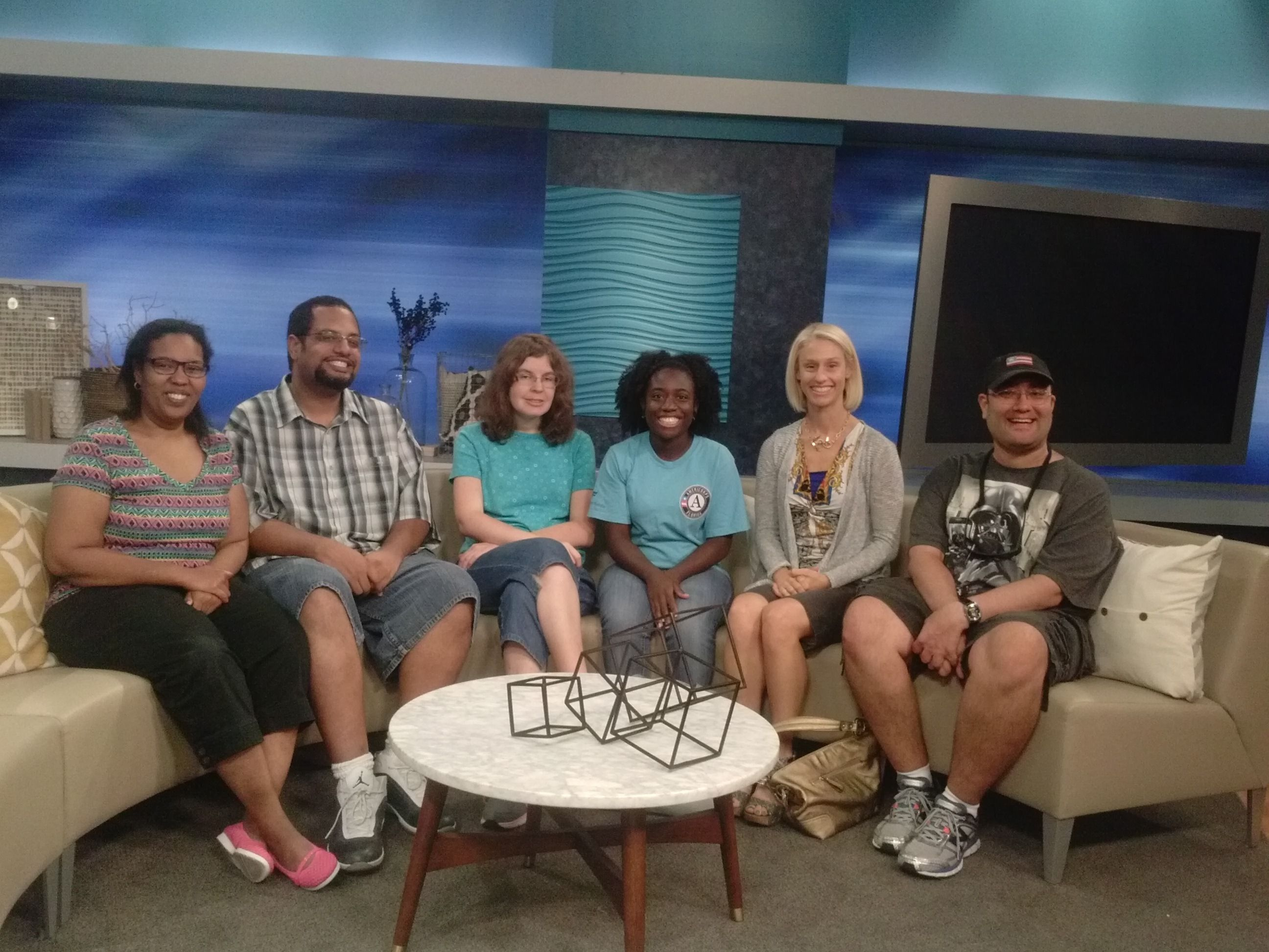The Xperience program visits Channel 4 news station