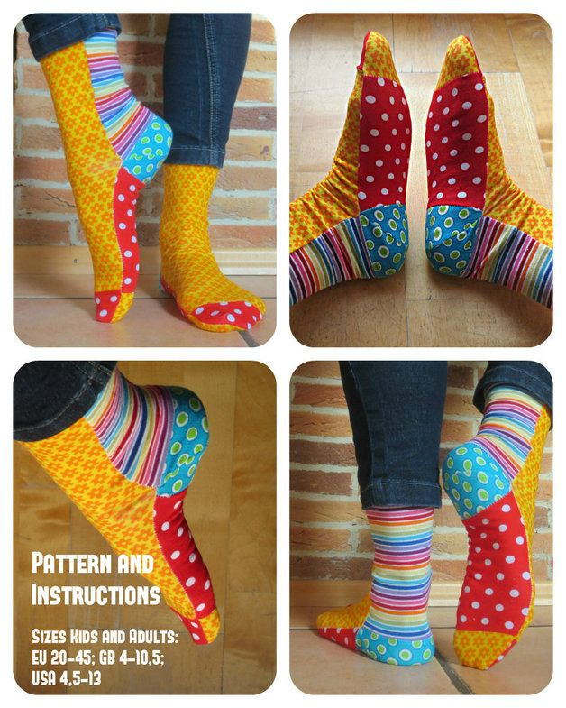 Colourful socks pattern and instructions english for Viejas en ropa interior