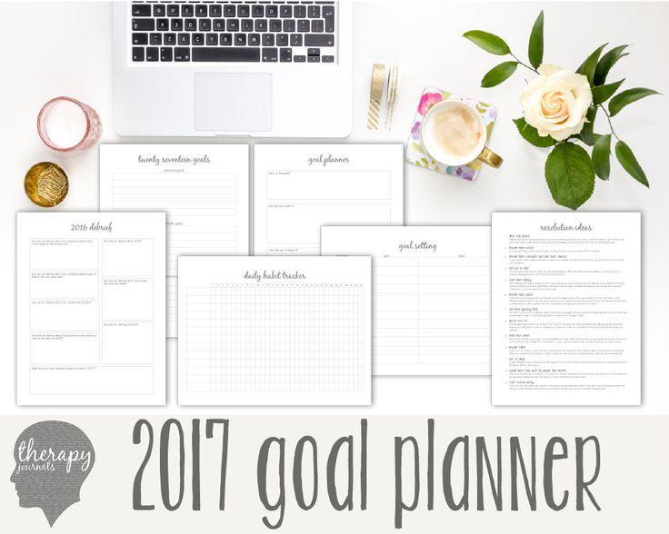 2017 Goal Planner Journal: Goal Setting, New Year Resolution ...
