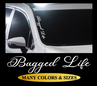 Details About Bagged Life Decal Vinyl Car Sticker Diesel