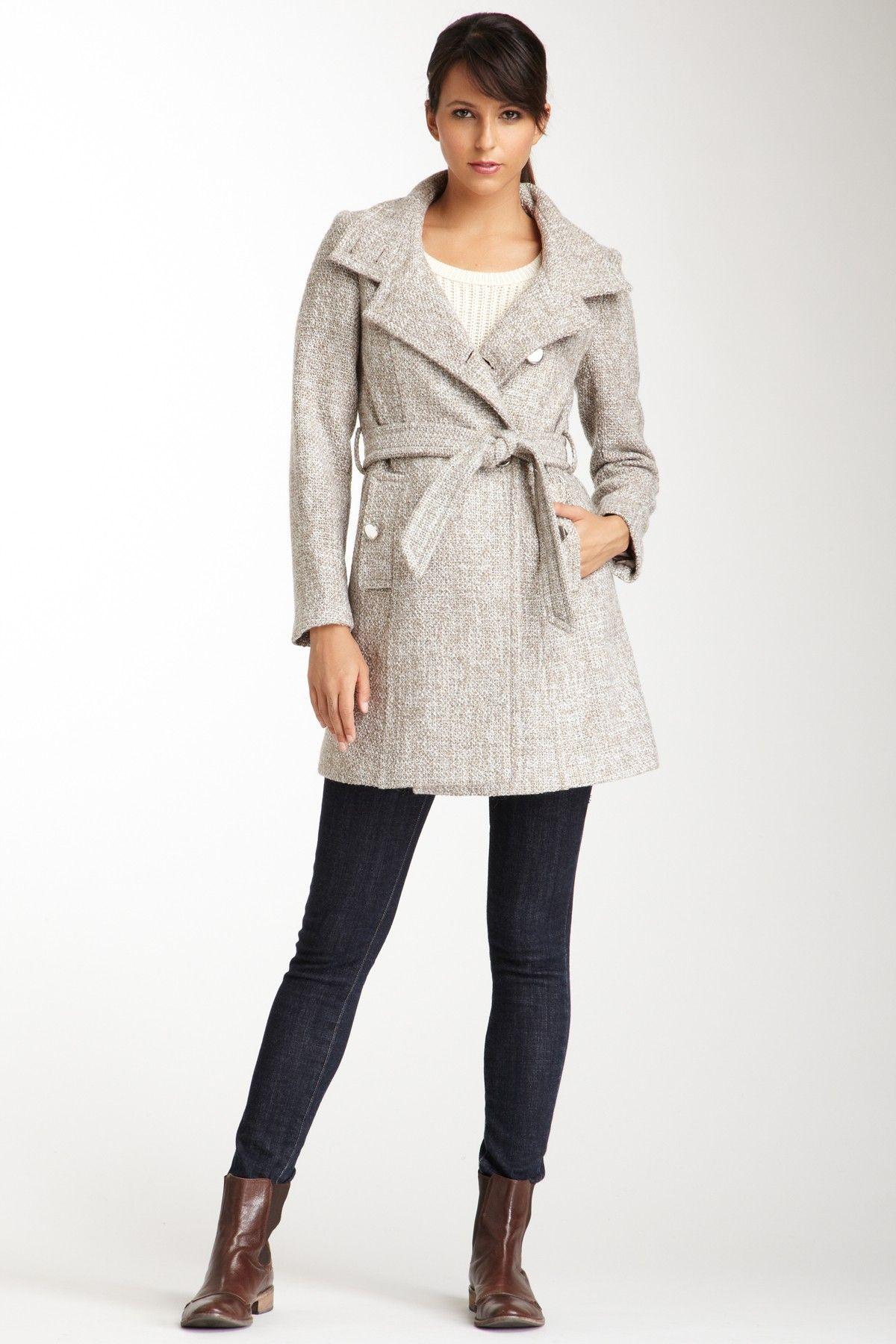 Tahari Izzy Wool Coat.. Looks so cozy and sophisticated