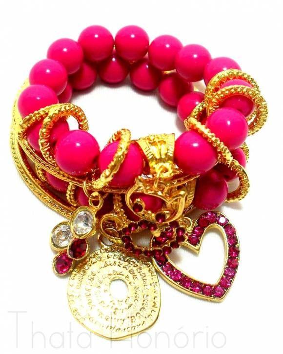 Conjunto de Pulseiras Pink