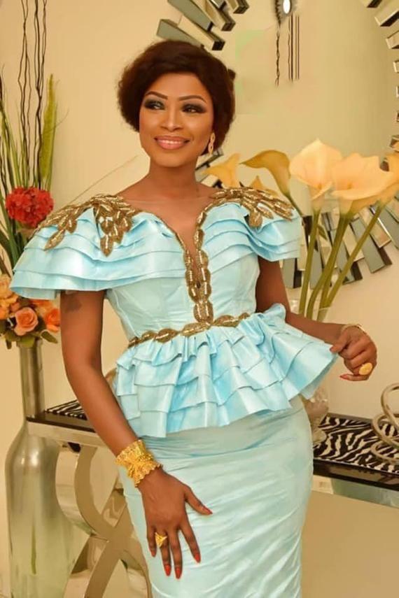 Premium Getzner magnum gold African dress/African clothing