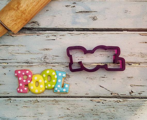 Pop art Boom Pow Blast Bubble Cookie Cutter Fondant Biscuit Clay Craft Maker