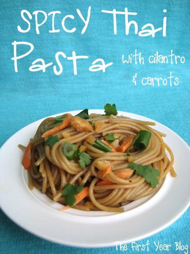 Spicy Thai Pasta - The First Year Blog #SpicyThaiPasta