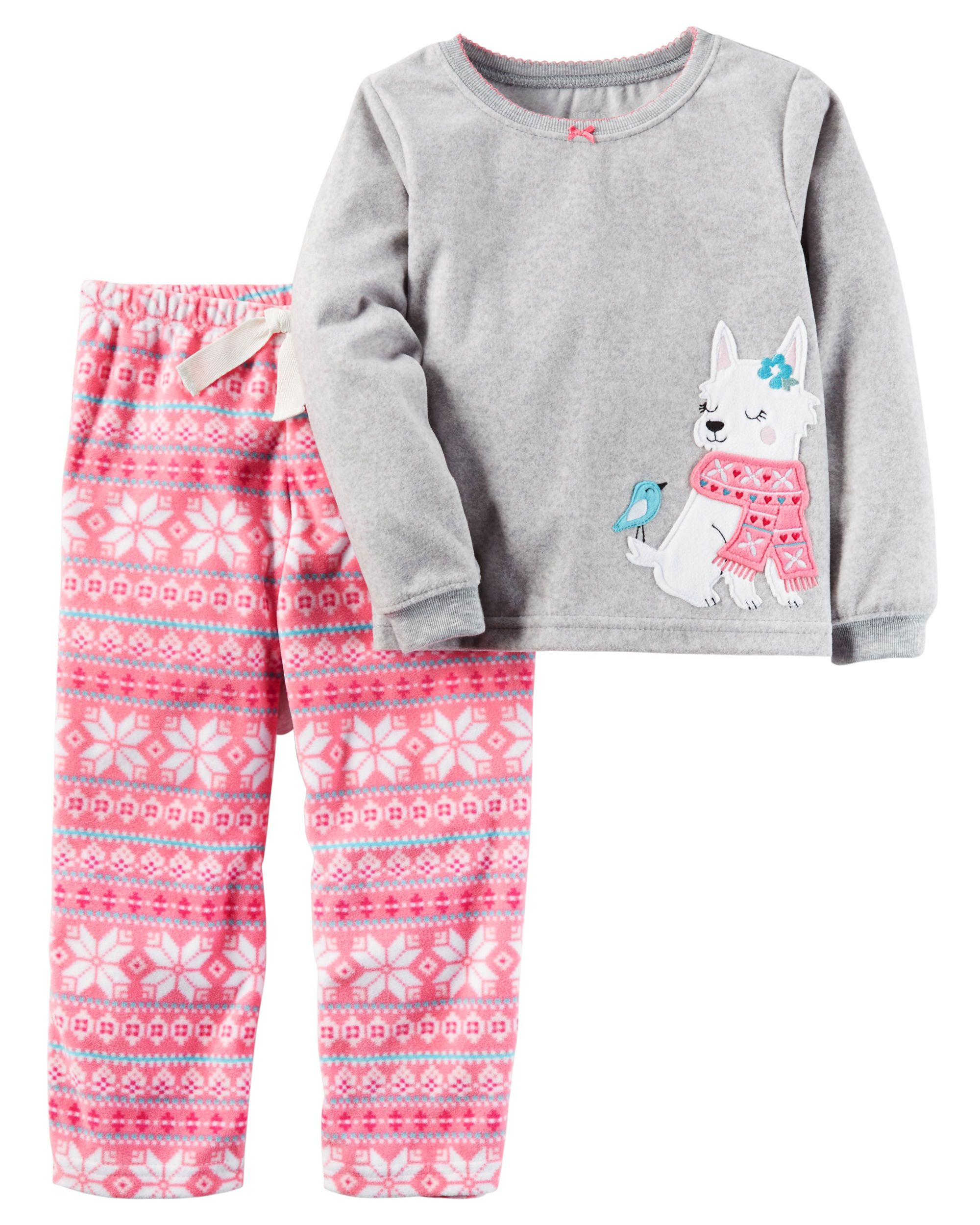 61097270f Toddler Girl 2-Piece Fleece PJs