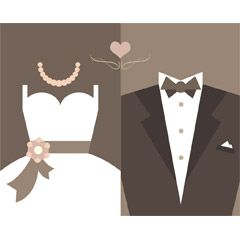 フリーイラスト素材] イラスト, 結婚式 / ウェディング