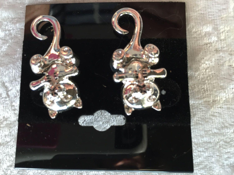 Cat Earrings Silver Earrings Post Earrings Dangle Earrings Kitty Cat  Earrings Silver Cat Earrings Silver Post Earrings Cat Jewelry