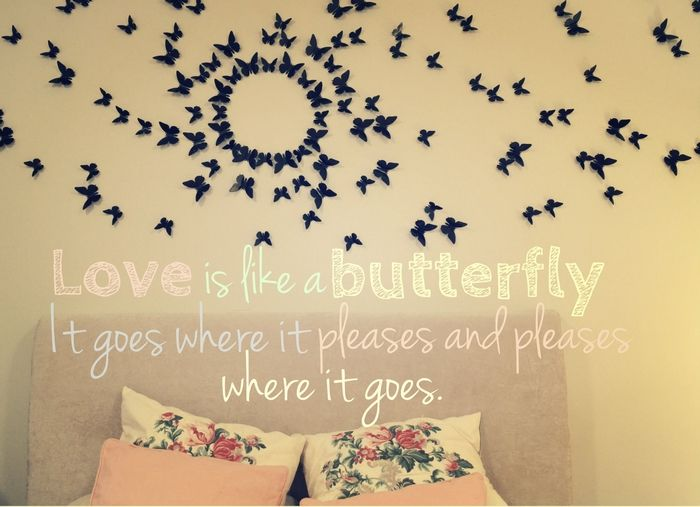 Gossip Girl butterfly wall. | Home and Decor | Pinterest | Butterfly ...