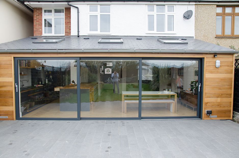 dwl grey aluminium visoglide sliding doors and grey