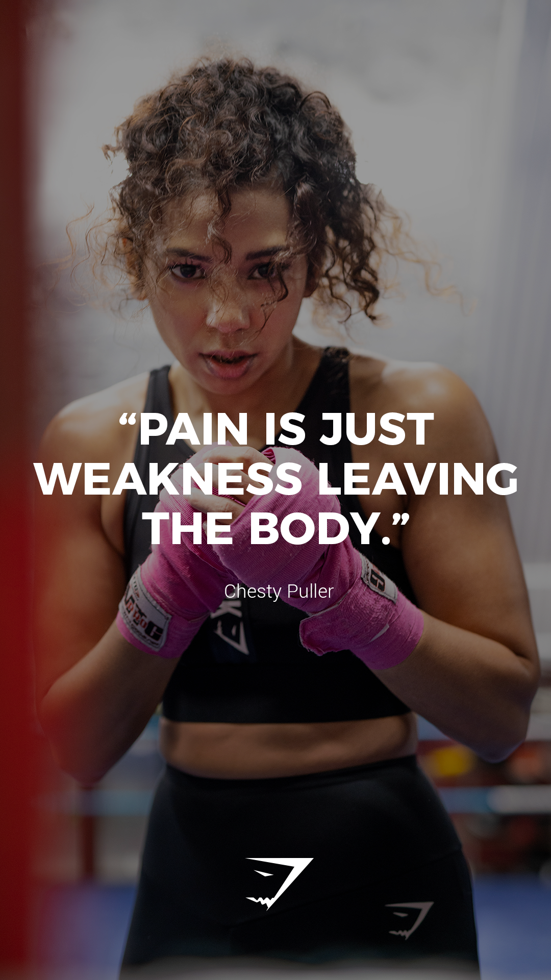 Pain Is Just Weakness Leaving The Body Chesty Puller Gymshark