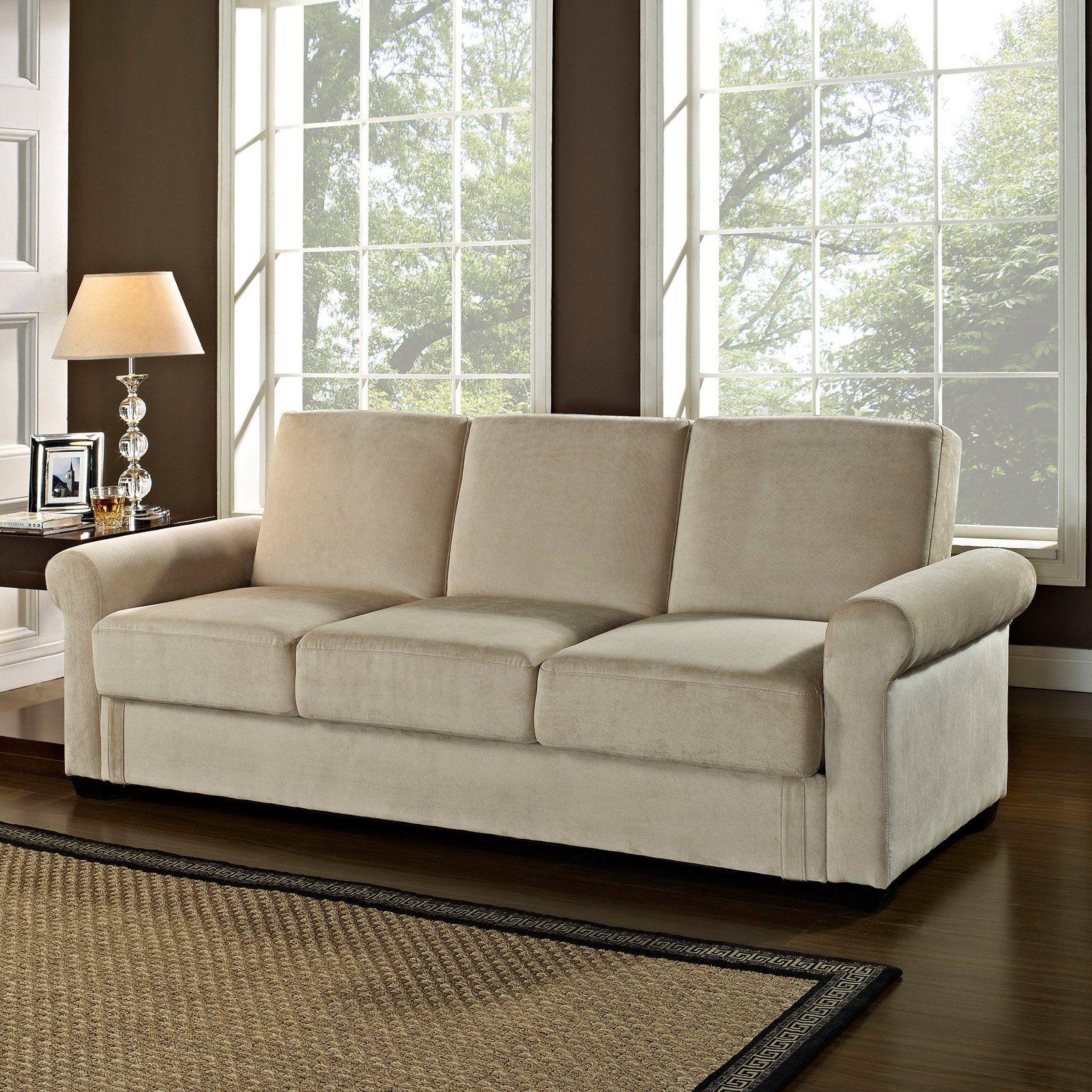 Serta dream convertible thomas sofa light brown from hayneedle