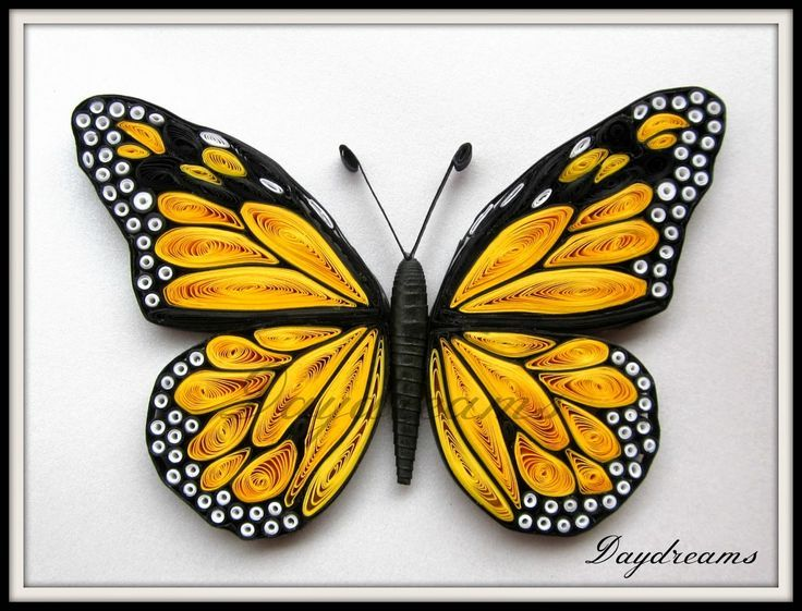 Photo of Quilled Monarch – #QuillingGirl #QuillingOwl #QuillingTablo