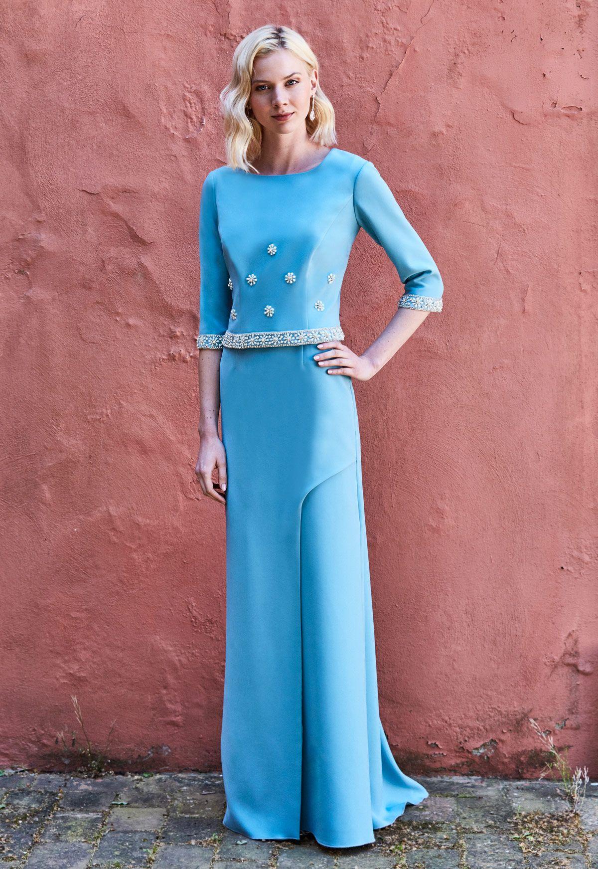 Vestido de fiesta Ana Torres colección 2018 modelo 18356A. Eva ...