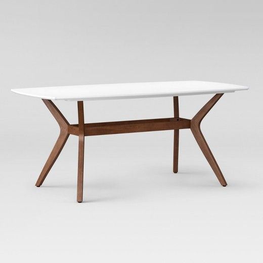 Emmond Mid Century 72 Dining Table White Brown Project 62
