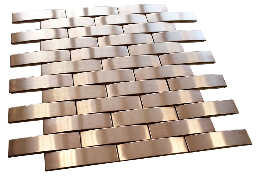 Bronze Stainless Steel Subway Style Mosaic Tiles Mosaic Tiles Subway Style Mosaic Tile Sheets