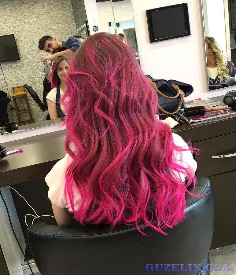 Dark Pink Hair Color Hairstyles For Long Hair Sa Renkleri