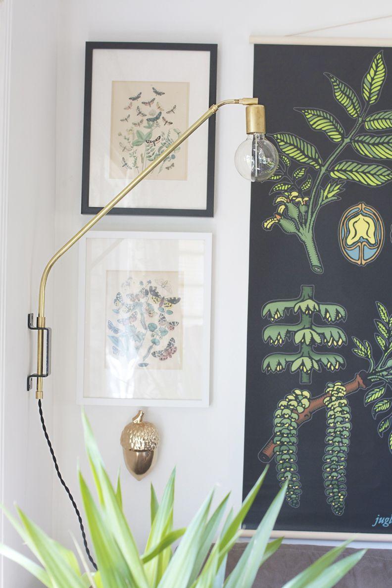 Diy Brass Swing Arm Wall Sconce Deco Maison Decoration Ikea Diy Deco