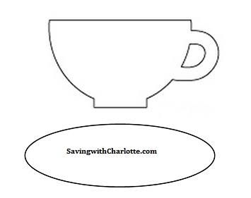 Image result for tea cup and saucer templates Tea time